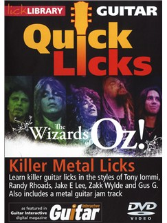Lick Library: Quick Licks - The Wizards Of Oz! Killer Metal Licks DVDs / Videos | Guitar