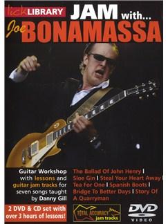 Lick Library: Jam With Joe Bonamassa (2 DVD & CD Set) CDs and DVDs / Videos | Guitar