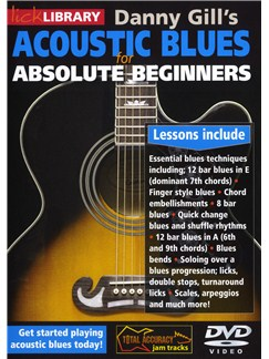 Lick Library: Acoustic Blues For Absolute Beginners DVDs / Videos | Guitar