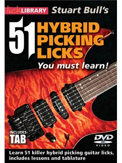 51 Hybrid Picking Licks You Must Learn DVDs / Videos   Electric Guitar