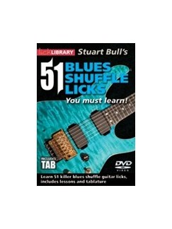 Lick Library: 51 Blues Shuffle Licks You Must Learn DVDs / Videos | Guitar