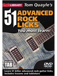 51 Advanced Rock Licks You Must Learn DVD DVDs / Videos | Guitar