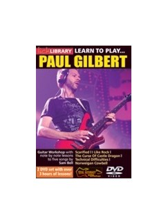 Lick Library: Learn To Play Paul Gilbert (2 DVD Set) DVDs / Videos | Guitar
