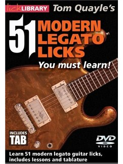 Lick Library: 51 Modern Legato Licks You Must Learn DVDs / Videos | Guitar
