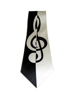 Silk Tie: Contemporary Treble Clef Design  |