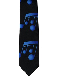 Polyester Tie: Blue Notes  |