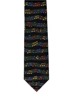 Polyester Tie: Notes And Staves  |