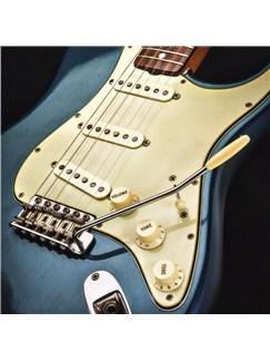 Electric Guitar Greeting Card - Lake Placid Blue  |