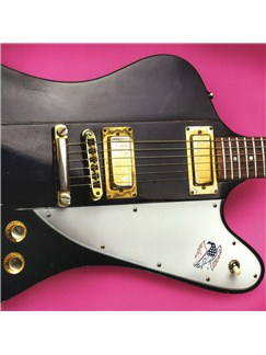 Electric Guitar Greeting Card - Black Guitar  |