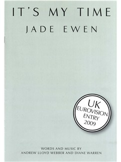 Jade Ewen: It's My Time - UK Eurovision Entry 2009 Books | Piano, Vocal & Guitar