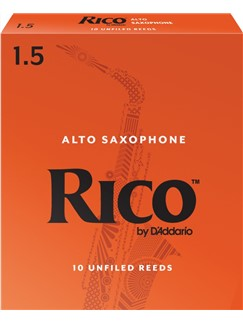 Rico: Orange Box Reeds - Alto Saxophone (Strength 1.5) Box Of 10  | Alto Saxophone