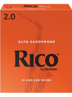 Rico: Orange Box Reeds - Alto Saxophone (Strength 2.0) Box Of 10  |