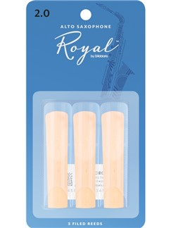Rico Royal: Alto Saxophone Reeds - Strength 2 (Pack Of 3)  | Alto Saxophone