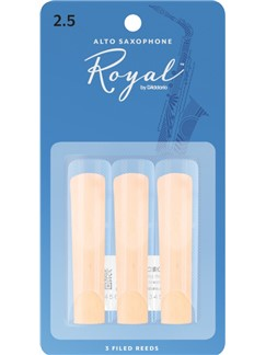 Rico Royal: Alto Saxophone Reeds - Strength 2.5 (Pack Of 3)  | Alto Saxophone