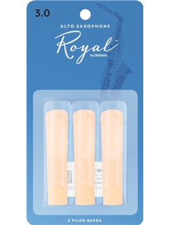 Rico Royal: Alto Saxophone Reeds - Strength 3 (Pack Of 3)  | Alto Saxophone