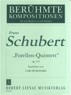 Schubert: Trout Quintet Op 114 Books | Two Pianos