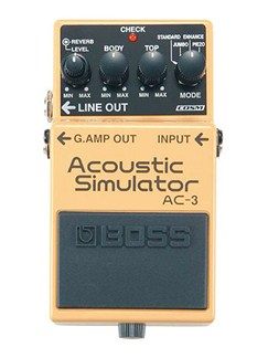 Boss: AC-3 Acoustic Simulator Pedal  | Electric Guitar