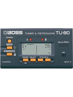 Boss: TU-80 Chromatic Tuner/Metronome  |