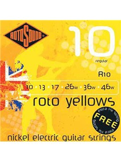 Rotosound: Regular Electric Guitar String Set - Roto Yellows  | Electric Guitar