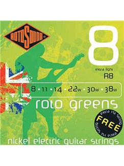 Rotosound: Extra Light Electric Guitar String Set - Roto Greens  | Electric Guitar