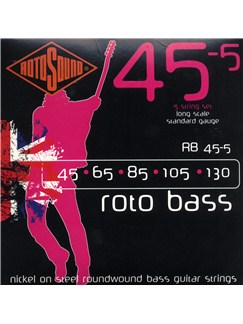 Rotosound: Roto Bass 5-String Bass Strings Set (45-130)  | Bass Guitar