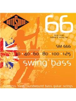 Rotosound: SM666 Swing Bass 66 - Six String Bass Guitar String Set (30-125)  | Bass Guitar