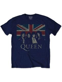 Queen: Union Jack Men's T-Shirt - Navy (Medium)  |