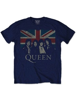 Queen: Union Jack Men's T-Shirt - Navy (Large)  |