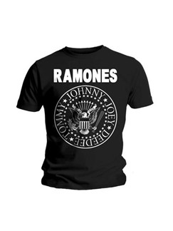 Ramones: Men's Logo T-Shirt - Black (Large)  |