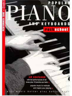 Rockschool Popular Piano And Keyboards - Grade 5 Books and CDs | Keyboard, Piano