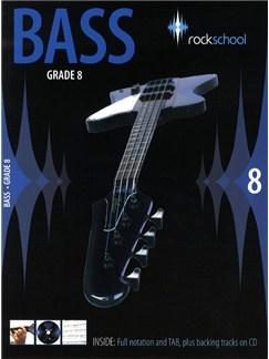 Rockschool Bass - Grade 8 (2006-2012) Books and CDs   Bass Guitar