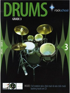 Rockschool Drums - Grade 3 (2006-2012) Books and CDs | Drums