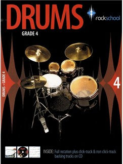 Rockschool Drums - Grade 4 (2006-2012) CD y Libro | Batería