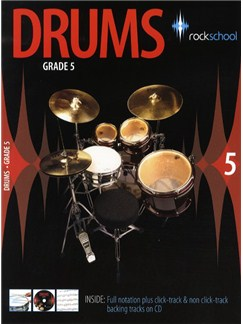Rockschool Drums - Grade 5 (2006-2012) Books and CDs | Drums