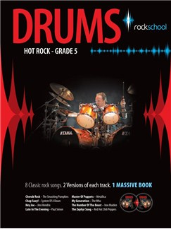 Rockschool Drums: Hot Rock Grade Five (Book/2CDs) Books and CDs | Drums