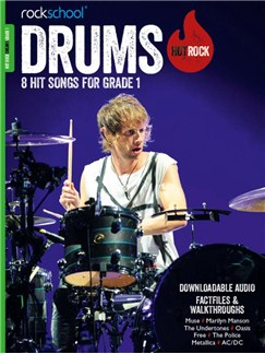 Rockschool: Hot Rock Drums - Grade 1 (Book/Audio Download) Books and Digital Audio | Drums