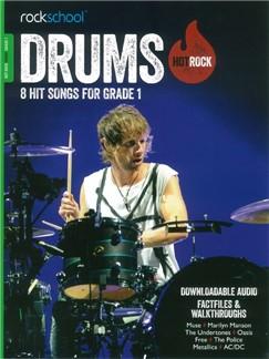 Rockschool: Hot Rock Drums - Grade 1 (Book/Online Audio) Books and Digital Audio | Drums