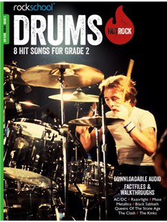 Rockschool: Hot Rock Drums - Grade 2 (Book/Audio Download) Books and Digital Audio | Drums