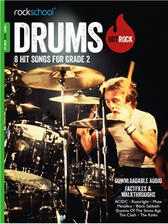 Rockschool: Hot Rock Drums - Grade 2 (Book/Audio Download) Buch und Digitale Audio | Schlagzeug