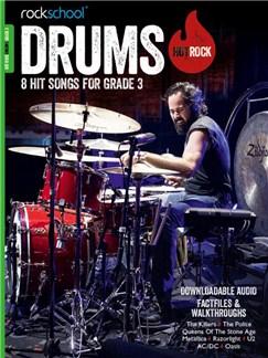 Rockschool: Hot Rock Drums - Grade 3 (Book/Audio Download) Books and Digital Audio | Drums