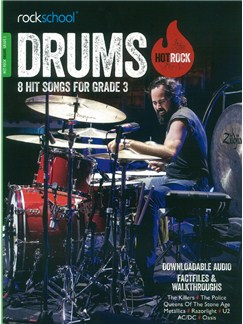 Rockschool: Hot Rock Drums - Grade 3 (Book/Online Audio) Books and Digital Audio | Drums