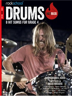 Rockschool: Hot Rock Drums - Grade 4 (Book/Audio Download) Books and Digital Audio | Drums