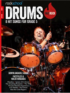 Rockschool: Hot Rock Drums - Grade 5 (Book/Audio Download) Books and Digital Audio | Drums