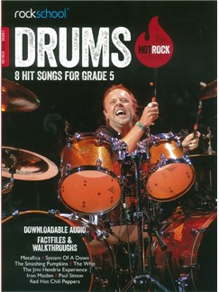 Rockschool: Hot Rock Drums - Grade 5 (Book/Online Audio) Books and Digital Audio | Drums
