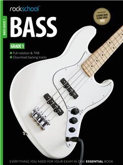 Rockschool Bass - Grade 1 (Book/Download Card) Books and Digital Audio | Bass Guitar