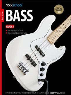 Rockschool Bass - Grade 5 (Book/Download Card) Books and Digital Audio | Bass Guitar