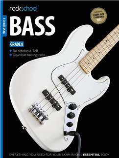 Rockschool Bass - Grade 8 (Book/Download Card) Books and Digital Audio | Bass Guitar