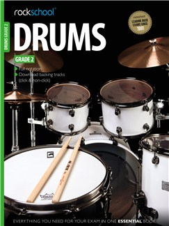 Rockschool Drums - Grade 2 (2012-2018) Audio Digitale et Livre | Batterie