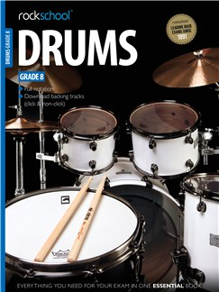 Rockschool Drums - Grade 8 Books and Digital Audio | Drums