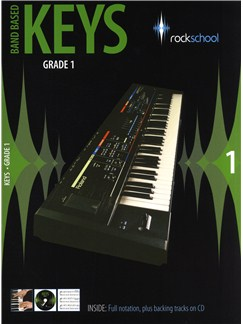 Rockschool: Band Based Keys - Grade 1 CD et Livre | Clavier